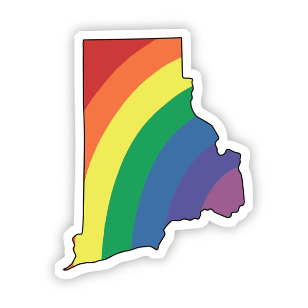 Rhode Island Rainbow Sticker