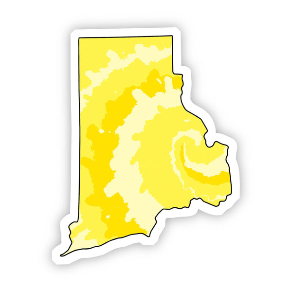 Rhode Island Yellow Sticker