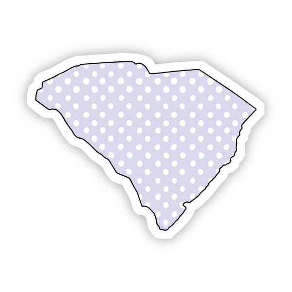 South Carolina Polka Dot Sticker