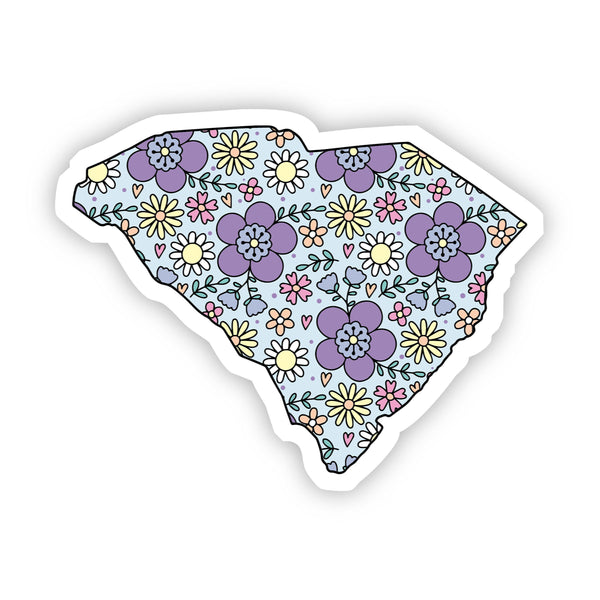 South Carolina Floral Sticker