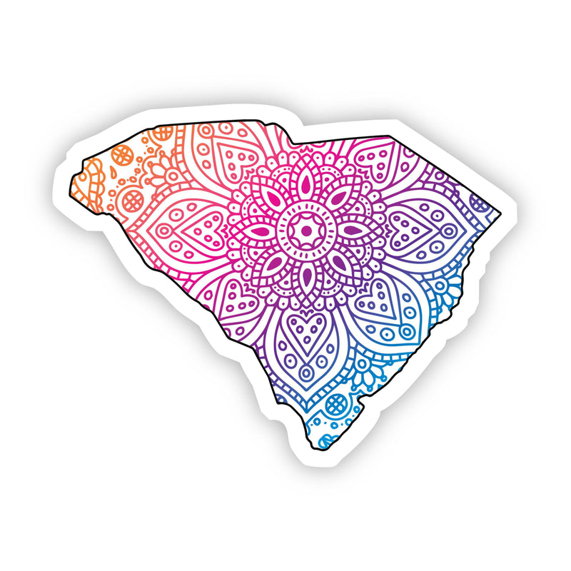 South Carolina Mandala Pattern Sticker