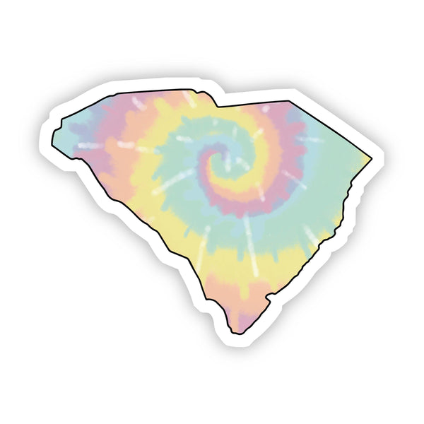 South Carolina Tie Dye Sticker