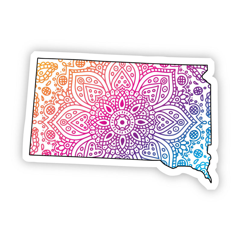 South Dakota Mandala Pattern Sticker
