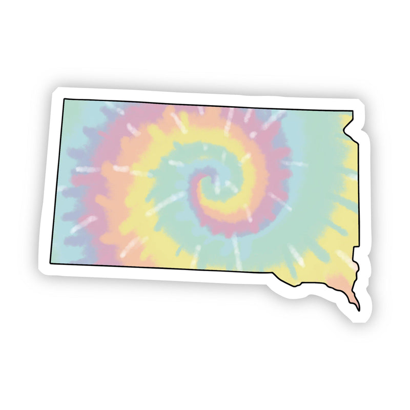 South Dakota Tie Dye Sticker