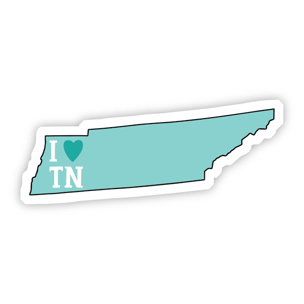 I Love Tennessee Teal Sticker
