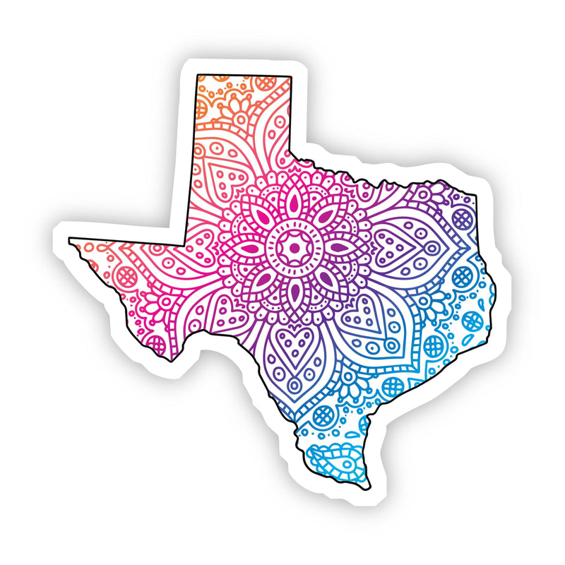 Texas Mandala Pattern Sticker