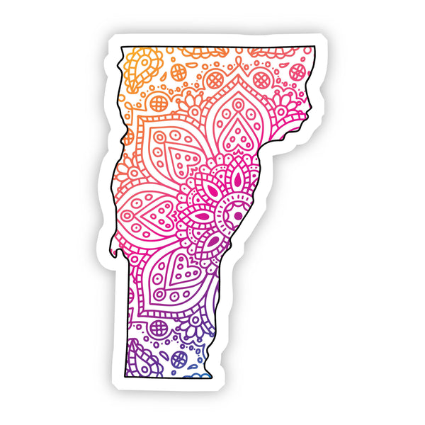 Vermont Mandala Pattern Sticker