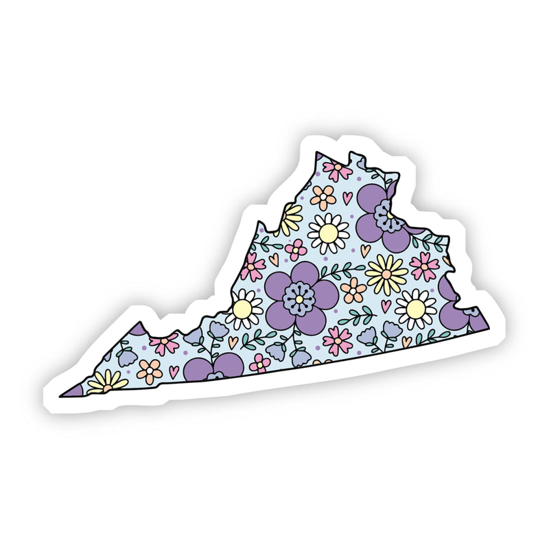 Virginia Floral Sticker