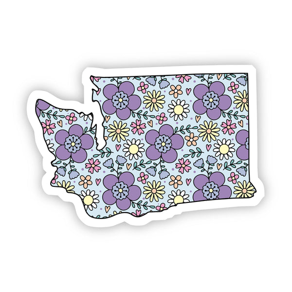 Washington Floral Sticker