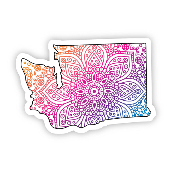 Washington Mandala Pattern Sticker
