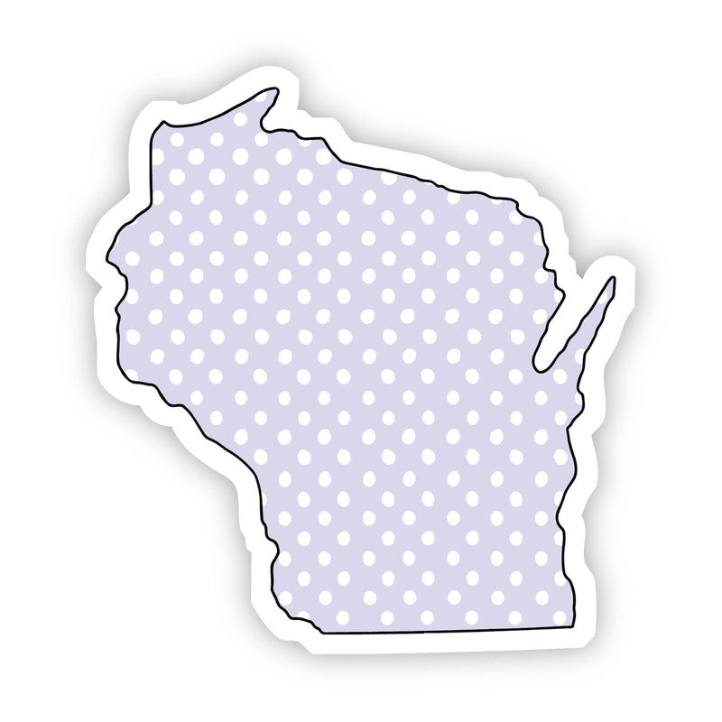 Wisconsin Polka Dot Sticker