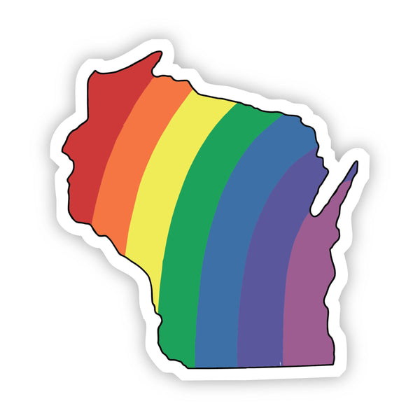 Wisconsin Rainbow Sticker