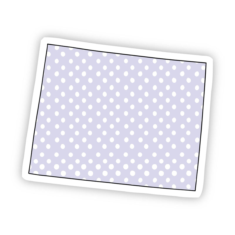 Wyoming Polka Dot Sticker