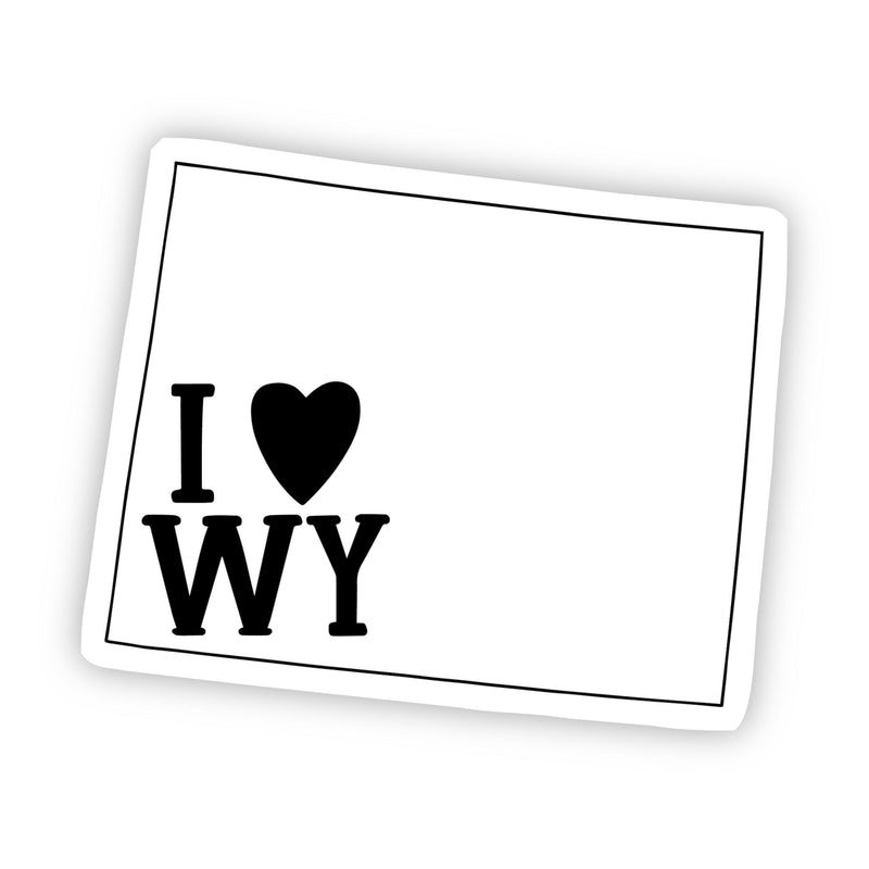 I Love Wyoming Sticker