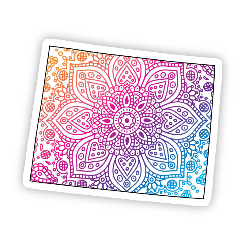 Wyoming Mandala Pattern Sticker