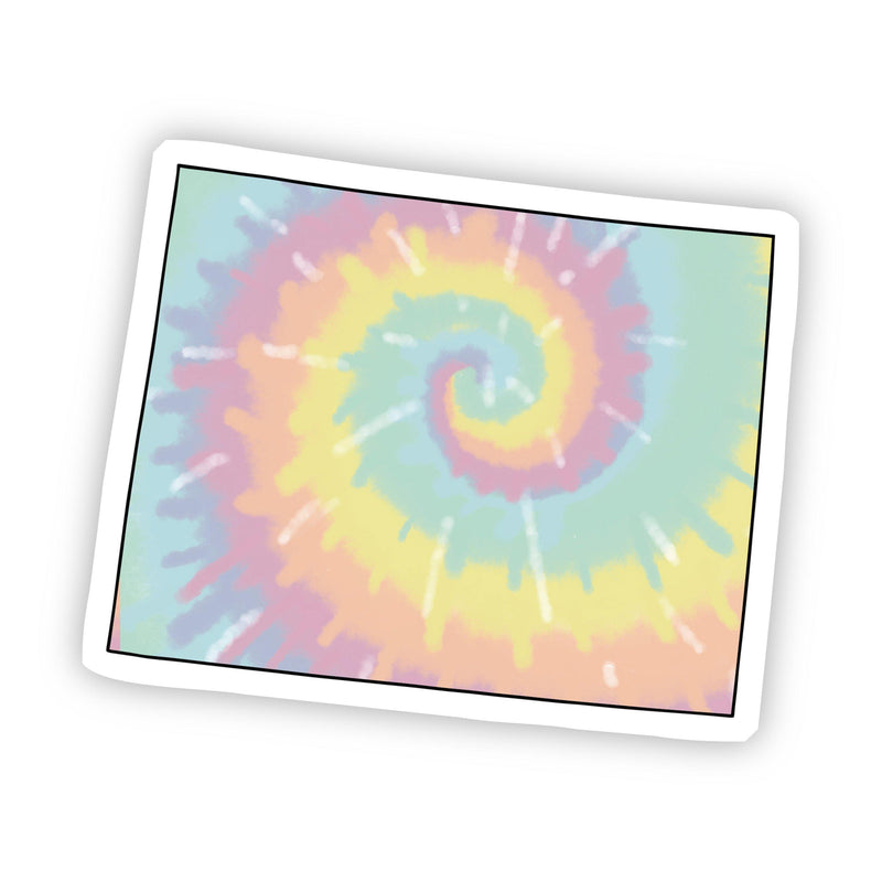 Wyoming Tie Dye Sticker