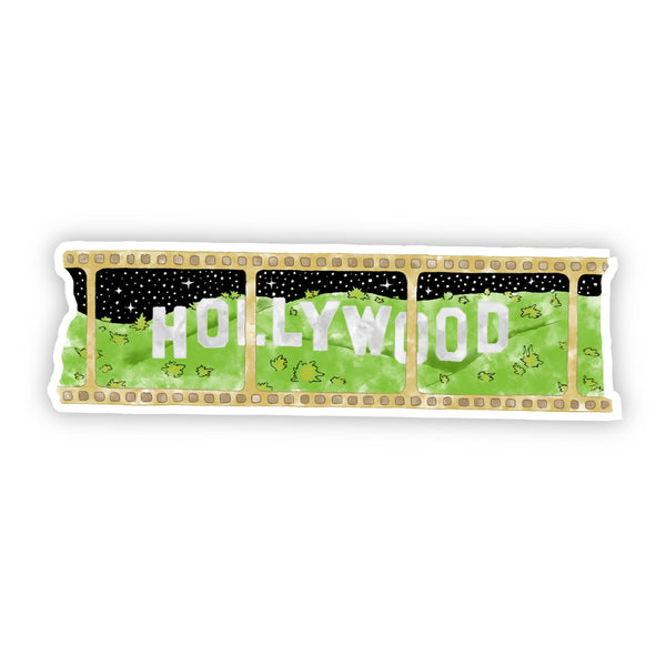 Hollywood Movie Golden Reel Sticker - Watercolor California