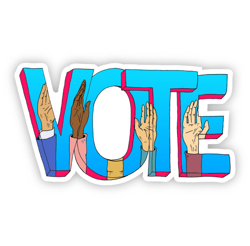 Vote Lettering with Hands Sticker