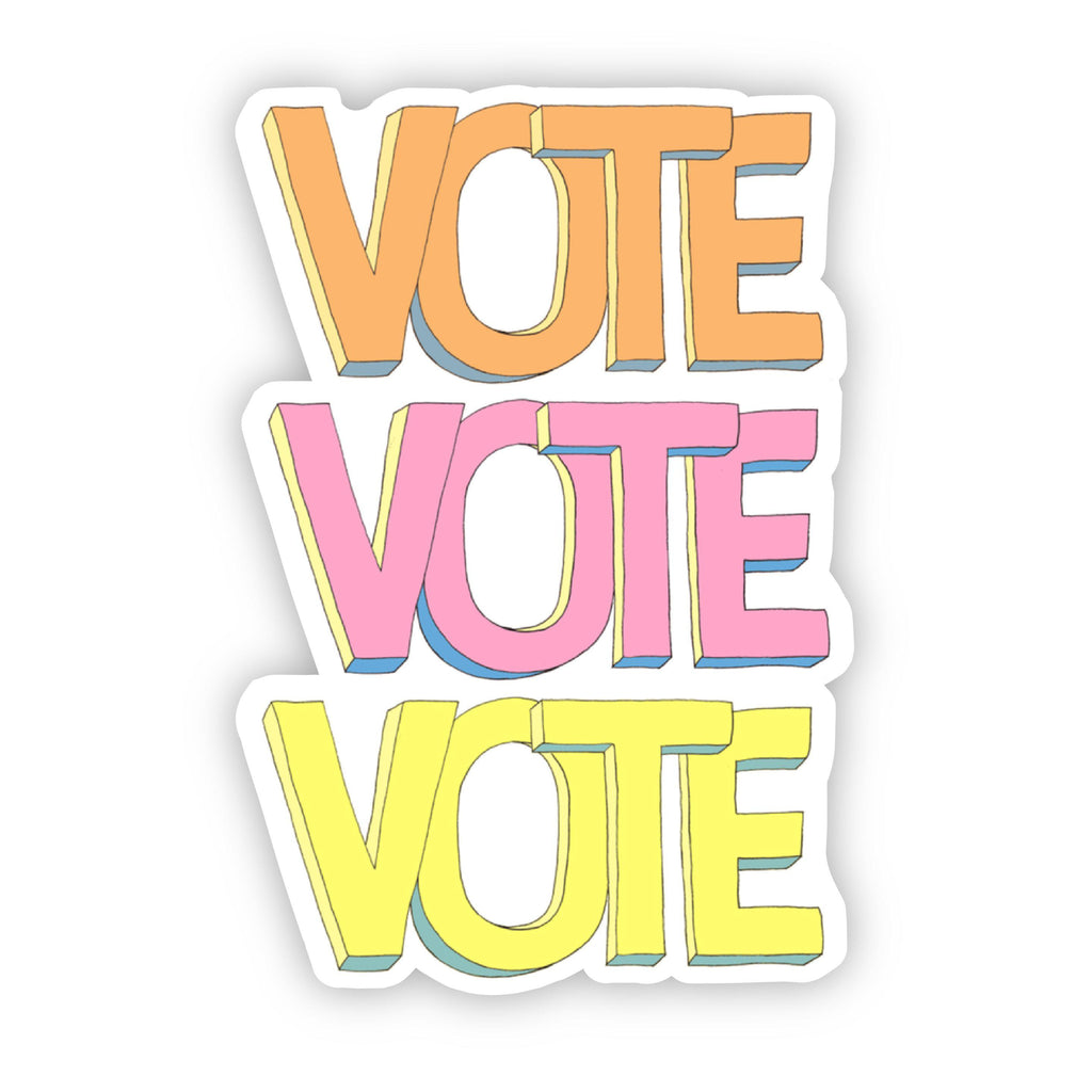 Vote Sticker - Orange, Yellow, Pink