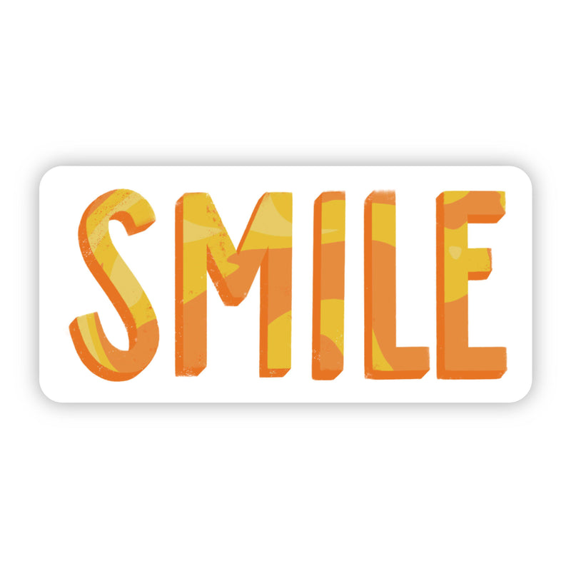 Smile Yellow and Orange Sticker