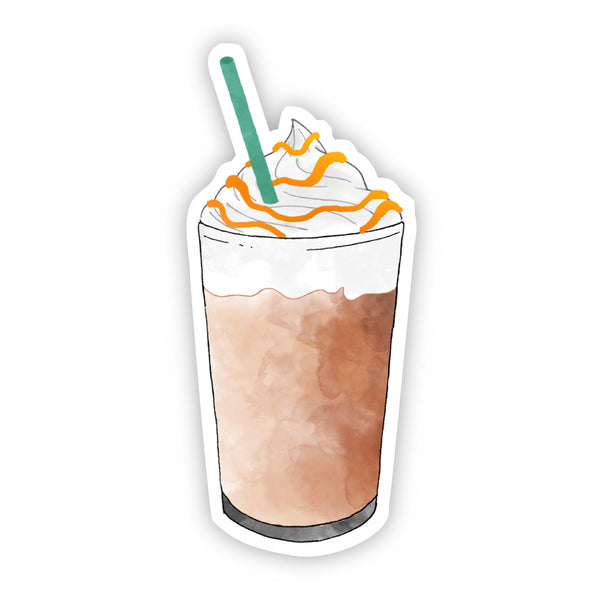 Frappuccino Green Straw Sticker