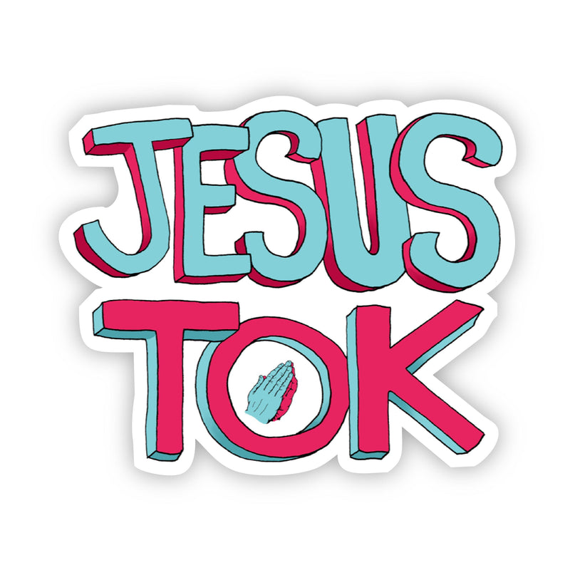 Jesus Tok Praying Hands Sticker