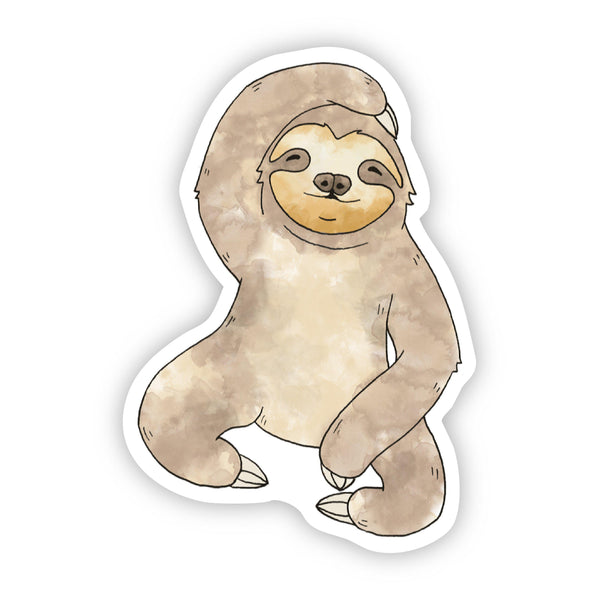 Sloth Watercolor Sticker