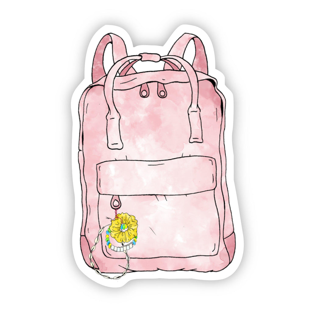 Pink Watercolor Backpack Sticker