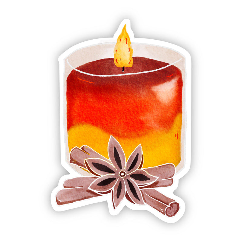 Scented Candle Watercolor Fall Sticker