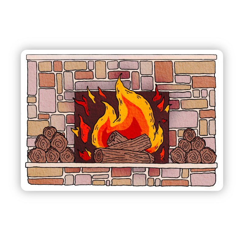 Fireplace Cozy Vibes Sticker