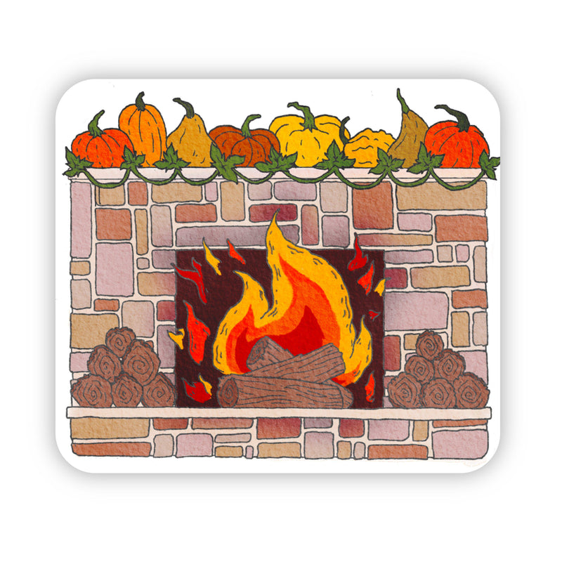 Fireplace Fall Sticker