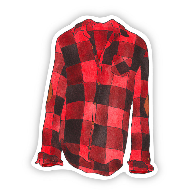 Flannel Shirt Cozy Vibes Sticker