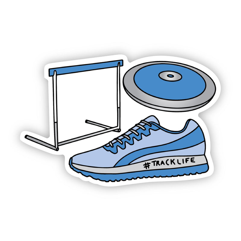 Track and Field Blue Sticker