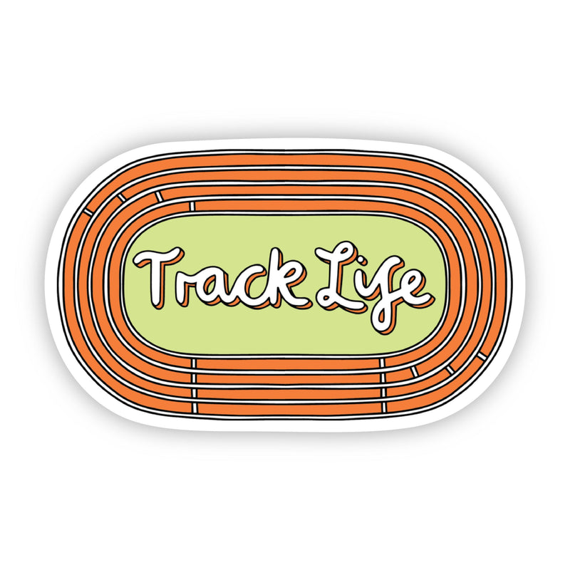 Track Life Orange Sticker