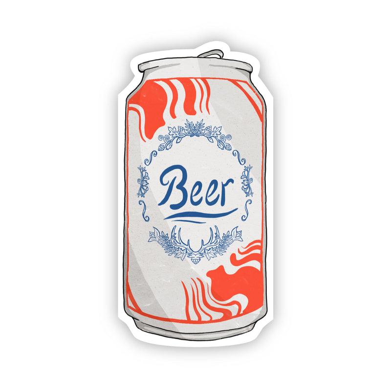 Beer Can Fall Sticker