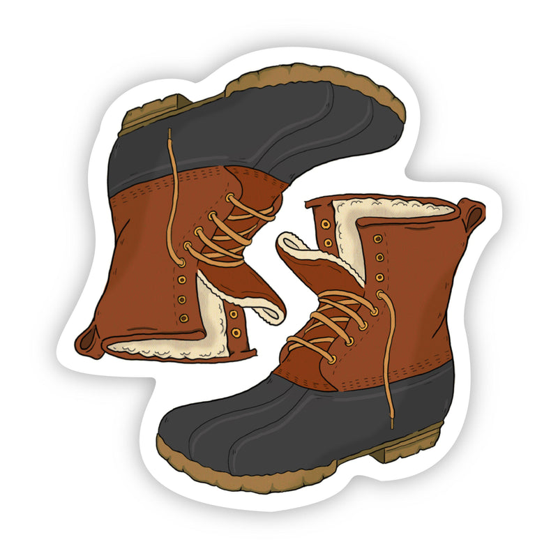 Two  Duck Boots Fall Sticker