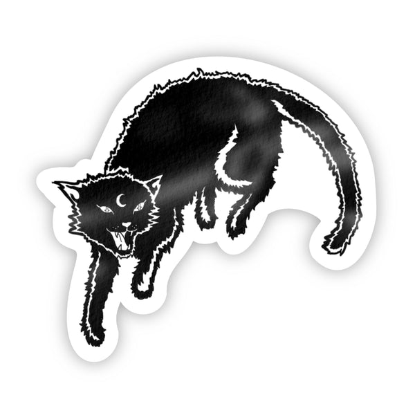 Black Cat Halloween Sticker