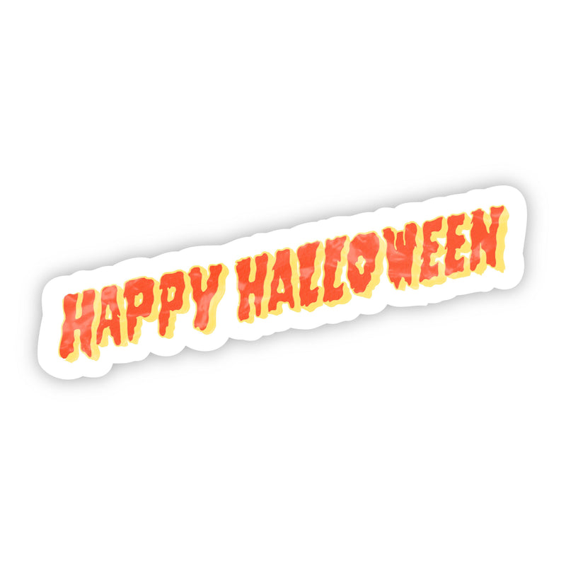 Happy Halloween Lettering Sticker