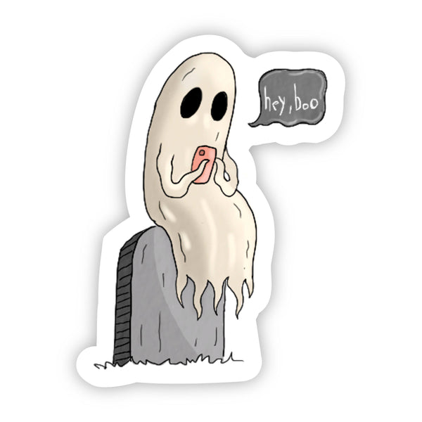 Hey, Boo Ghost Halloween Sticker