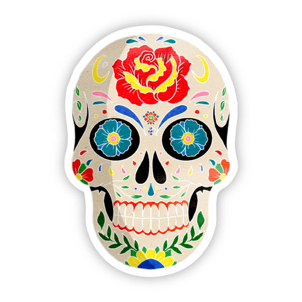 Sugar Skull Halloween Sticker