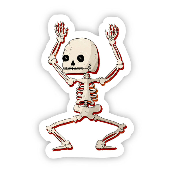 Dancing Skeleton Halloween Sticker