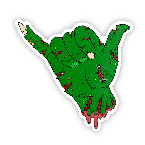 Zombie Hang Loose Halloween Sticker