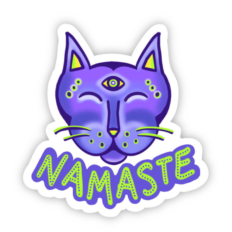 Namaste Cat Sticker