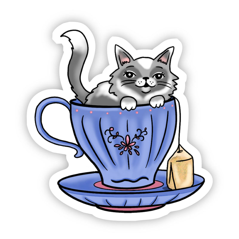 Cat Tea Sticker