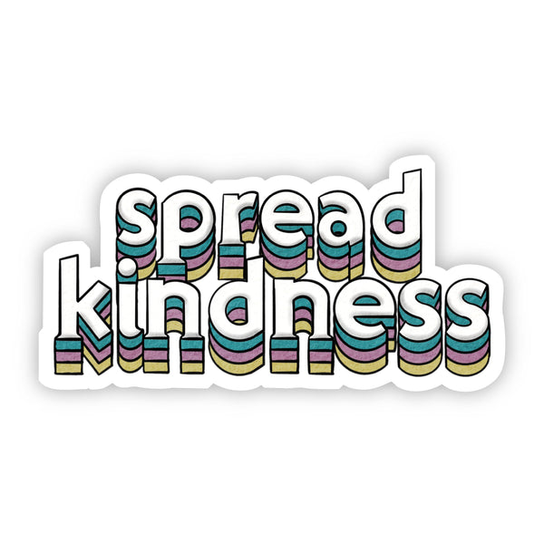 Spread Kindness Lettering Sticker