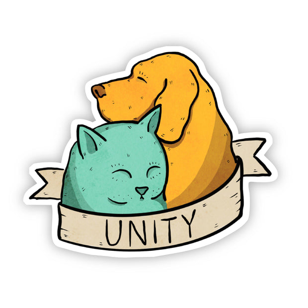 Unity Dog and Cat Sticker 1