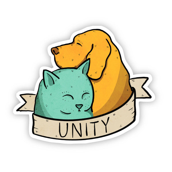 Unity Dog and Cat Sticker