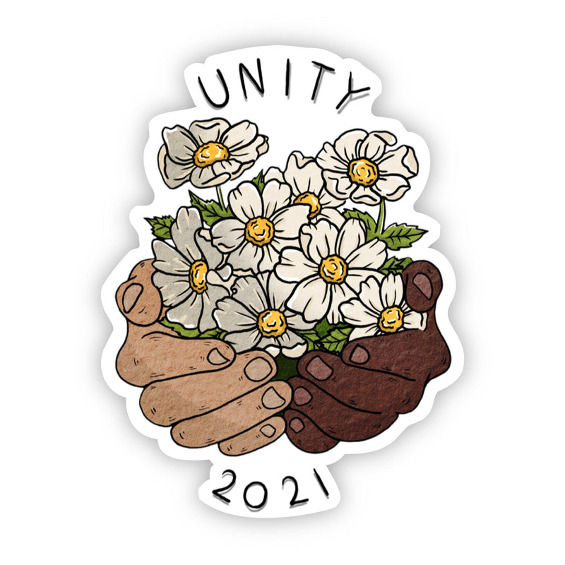 Unity 2021 Floral Hands Sticker