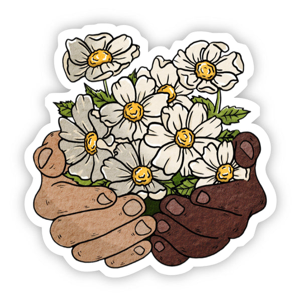 Floral Hands Sticker