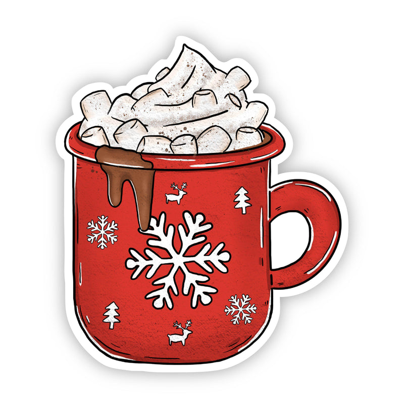 Hot Chocolate Mug Holiday Sticker
